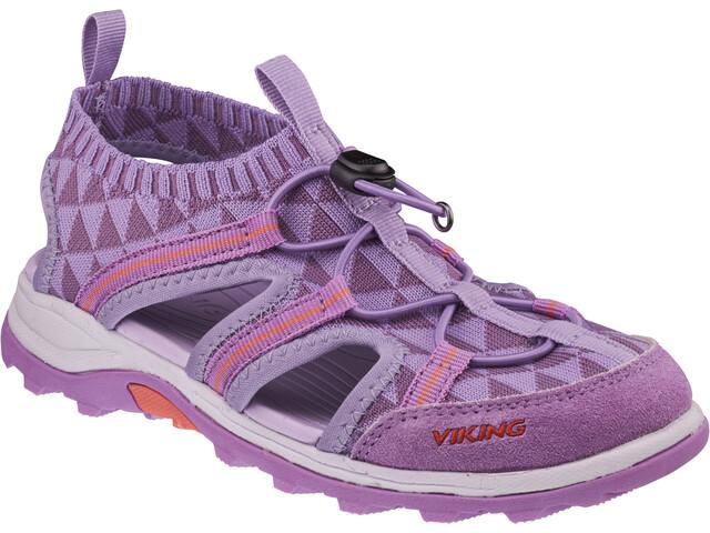 Viking Footwear Ulvik Sandaalit Lapset, lavender/coral